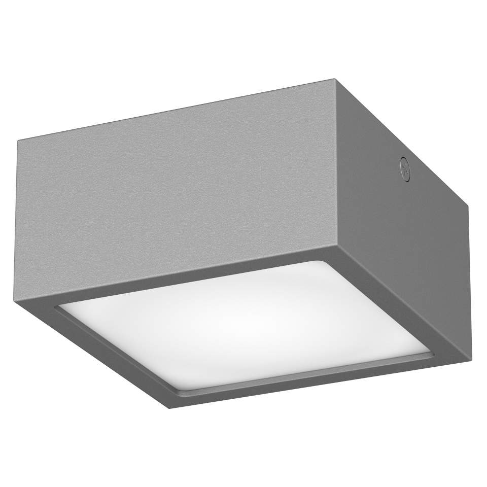 380294 Светильник ZOLLA QUAD LED-SQ 8W 640LM СЕРЫЙ 4000K IP65 (в комплекте) | Lightstar LS380294